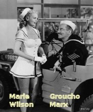 Marie Wilson and Groucho Marx