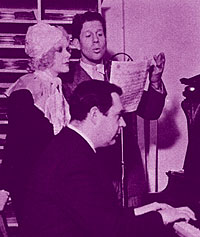 Rudy Vallee rehearsing